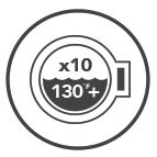 Machine Washable x10 130°F